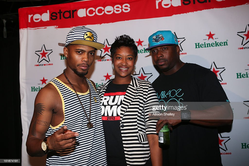B.o.B. (L) poses with attendees at Heineken Red Star Access D.C. featuring B.o.B. and DJ Ruckus on September 8, 2012 in Washington, D.C.