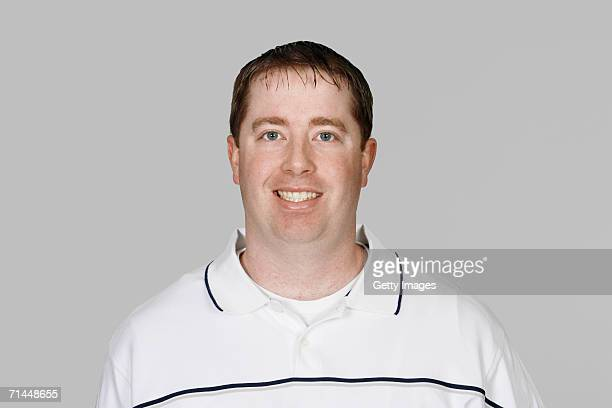 Bob Quinn of the New England Patriots poses for his 2006 NFL headshot at photo day in Foxborough Massachusetts