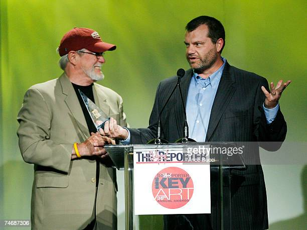 Bob Rembert and Mike Gottberg accept the award for Best Theatrical Standee at The Hollywood Reporter's 36th Annual Key Art Awards on June 15 2007 at...