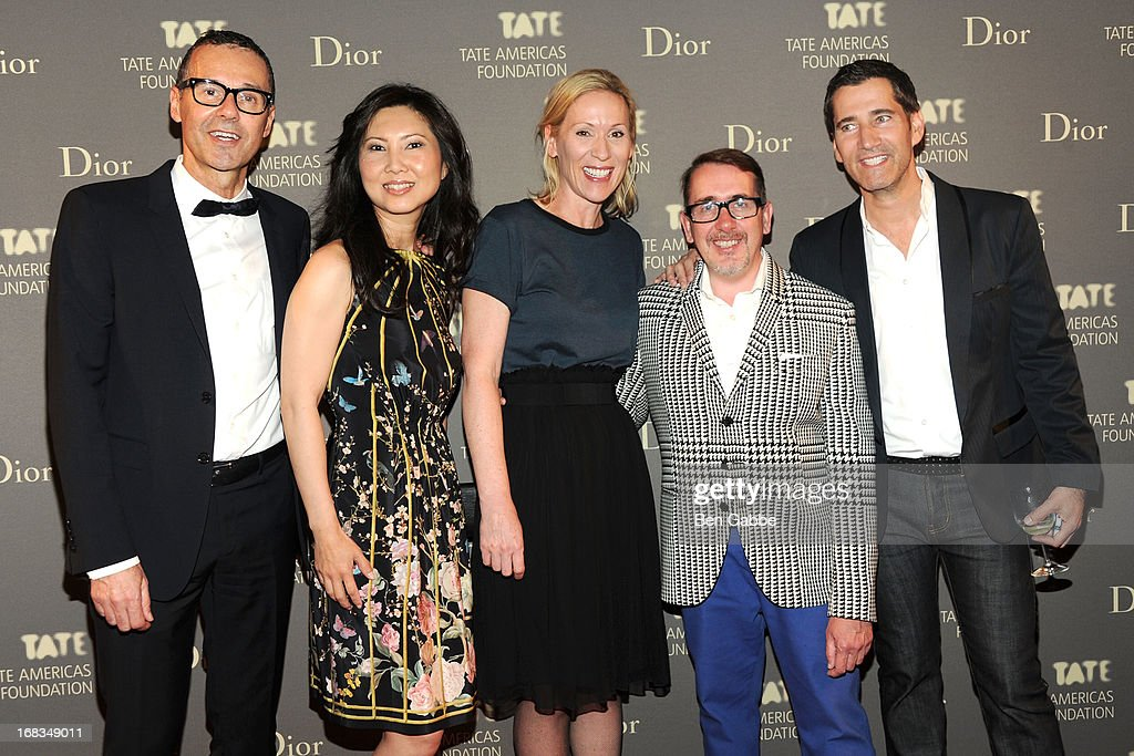 Bob Rennie, Wendy Chang, Elisabeth Karpidas, Richard Hamilton and Carey Fouks attend the Tate Americas Foundation Artists Dinner at Skylight at Moynihan Station on May 8, 2013 in New York City.