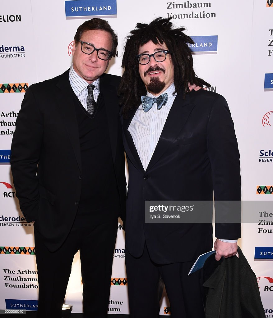 <a gi-track='captionPersonalityLinkClicked' href=/galleries/search?phrase=Bob+Saget&family=editorial&specificpeople=209388 ng-click='$event.stopPropagation()'>Bob Saget</a> and <a gi-track='captionPersonalityLinkClicked' href=/galleries/search?phrase=Adam+Duritz&family=editorial&specificpeople=207121 ng-click='$event.stopPropagation()'>Adam Duritz</a> attend Cool Comedy - Hot Cuisine, A Benefit For The Scleroderma Research Foundation at Carolines On Broadway on December 8, 2015 in New York City.