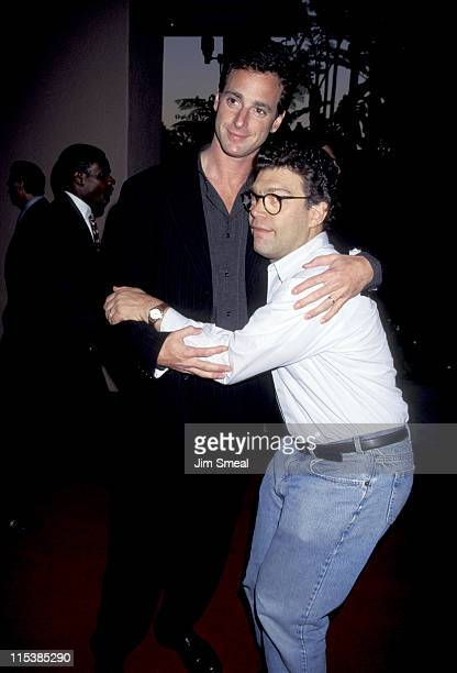 Bob Saget and Al Franken during ABC Fall 1995 Season Kick Off Cocktail Reception at Beverly Hills Hotel in Beverly Hills CA United States