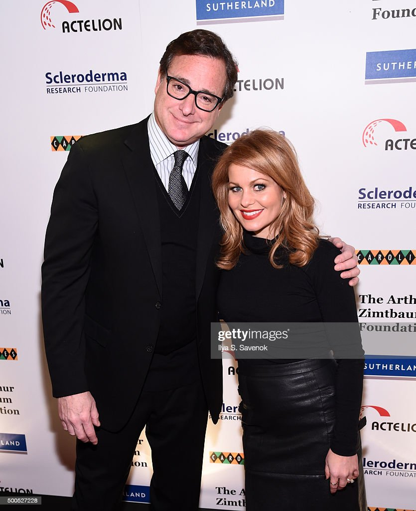 Bob Saget and Candace Cameron Bure attend Cool Comedy - Hot Cuisine, A Benefit For The Scleroderma Research Foundation at Carolines On Broadway on December 8, 2015 in New York City.