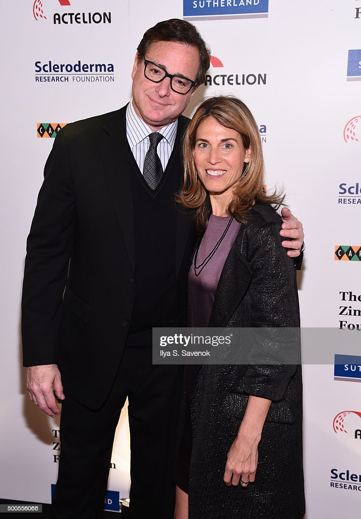 <a gi-track='captionPersonalityLinkClicked' href=/galleries/search?phrase=Bob+Saget&family=editorial&specificpeople=209388 ng-click='$event.stopPropagation()'>Bob Saget</a> and Caryn Zucker attend Cool Comedy - Hot Cuisine, A Benefit For The Scleroderma Research Foundation at Carolines On Broadway on December 8, 2015 in New York City.