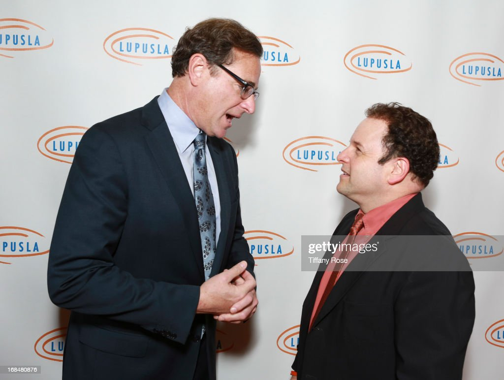 <a gi-track='captionPersonalityLinkClicked' href=/galleries/search?phrase=Bob+Saget&family=editorial&specificpeople=209388 ng-click='$event.stopPropagation()'>Bob Saget</a> and <a gi-track='captionPersonalityLinkClicked' href=/galleries/search?phrase=Jason+Alexander+-+Actor&family=editorial&specificpeople=11399423 ng-click='$event.stopPropagation()'>Jason Alexander</a> attend Lupus LA Orange Ball at the Beverly Wilshire Four Seasons Hotel on May 9, 2013 in Beverly Hills, California.