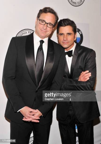 Bob Saget and John Stamos attend The Friars Foundation Annual Applause Award Gala honoring Don Rickles at The Waldorf=Astoria on June 24 2013 in New...