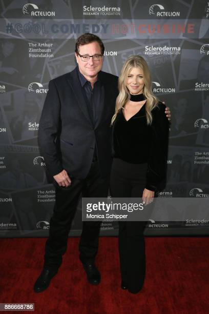 Bob Saget and Kelly Rizzo attend the Scleroderma Research Foundation's 30th Anniversary Cool Comedy Hot Cuisine at Caroline's Comedy Club on December...