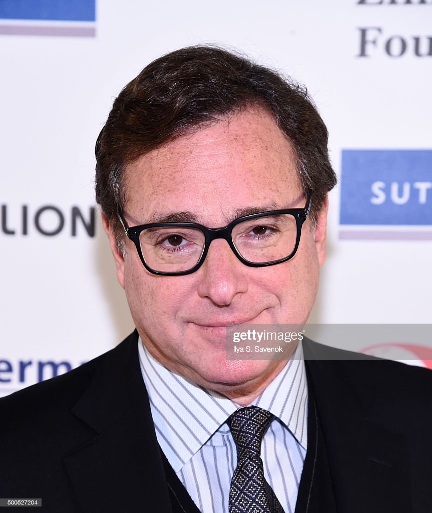 <a gi-track='captionPersonalityLinkClicked' href=/galleries/search?phrase=Bob+Saget&family=editorial&specificpeople=209388 ng-click='$event.stopPropagation()'>Bob Saget</a> attends Cool Comedy - Hot Cuisine, A Benefit For The Scleroderma Research Foundation at Carolines On Broadway on December 8, 2015 in New York City.
