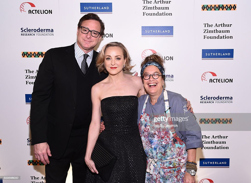 <a gi-track='captionPersonalityLinkClicked' href=/galleries/search?phrase=Bob+Saget&family=editorial&specificpeople=209388 ng-click='$event.stopPropagation()'>Bob Saget</a> (L) attends Cool Comedy - Hot Cuisine, A Benefit For The Scleroderma Research Foundation at Carolines On Broadway on December 8, 2015 in New York City.
