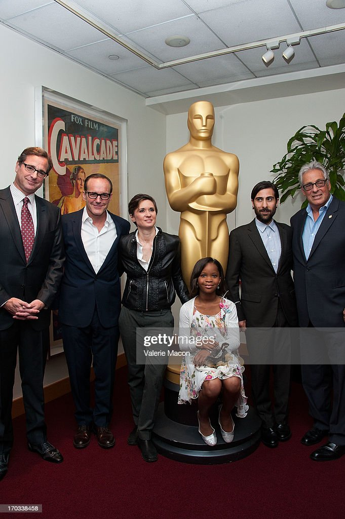 Bob Saget Clark Gregg Kimberly Peirce Quvenzhane Wallis Jason Schwartzman and Hawk Koch attends The Academy Of Motion Picture Arts And Sciences' 40th...
