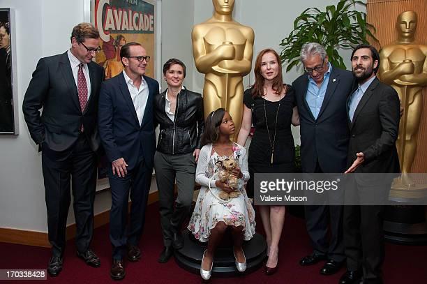 Bob Saget Clark Gregg Kimberly Peirce Quvenzhane Wallis Jennifer Todd Hawk Koch and Jason Schwartzman attends The Academy Of Motion Picture Arts And...
