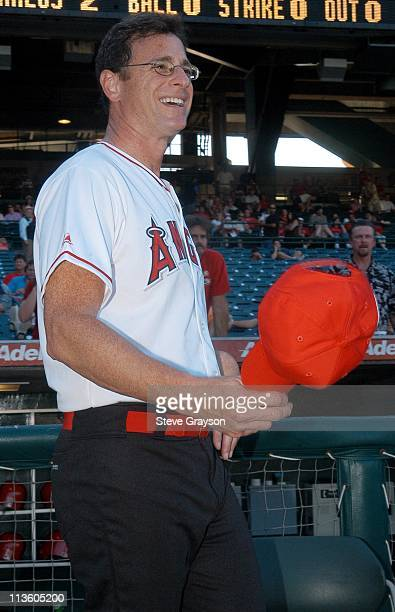 Bob Saget during Hollywood AllStars Celebrity Softball Game August 16 2003 at Edison International Field in Anaheim California United States