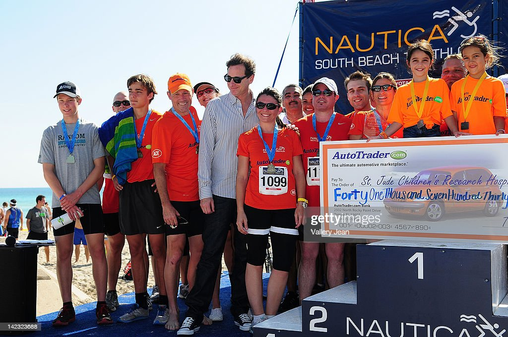 <a gi-track='captionPersonalityLinkClicked' href=/galleries/search?phrase=Bob+Saget&family=editorial&specificpeople=209388 ng-click='$event.stopPropagation()'>Bob Saget</a> hosts the 5th Annual Nautica South Beach Triathlon to benefit St. Jude Children's Research Hospital on April 1, 2012 in Miami Beach, Florida.