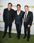 Bob Saget John Stamos and Dave Coulier attend the premiere of Netflix's 'Fuller House' on February 16 2016 in Los Angeles California