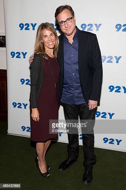 Bob Saget poses with Caryn Zucker at the 92nd Street Y on April 8 2014 in New York City