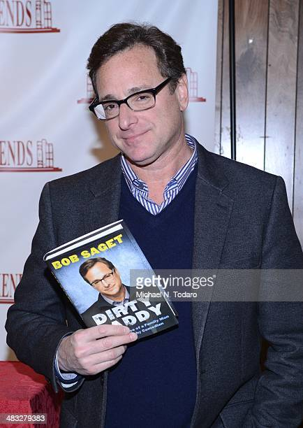 Bob Saget promotes the new book 'Dirty Daddy The Chronicles Of A Family Man Turned Filthy Comedian' at Bookends Bookstore on April 7 2014 in...