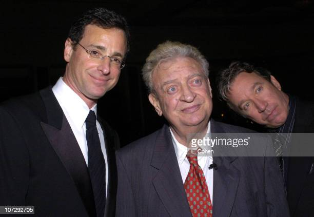Bob Saget Rodney Dangerfield and Tim Allen during 13th Annual 'Cool Comedy Hot Cuisine' Benefit for Scleroderma Research Inside/Show at The Regent...
