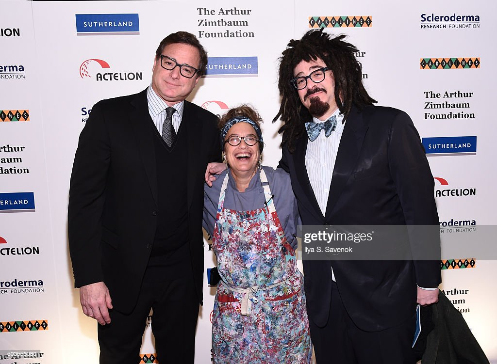 <a gi-track='captionPersonalityLinkClicked' href=/galleries/search?phrase=Bob+Saget&family=editorial&specificpeople=209388 ng-click='$event.stopPropagation()'>Bob Saget</a>, Susan Feniger and <a gi-track='captionPersonalityLinkClicked' href=/galleries/search?phrase=Adam+Duritz&family=editorial&specificpeople=207121 ng-click='$event.stopPropagation()'>Adam Duritz</a> attend Cool Comedy - Hot Cuisine, A Benefit For The Scleroderma Research Foundation at Carolines On Broadway on December 8, 2015 in New York City.