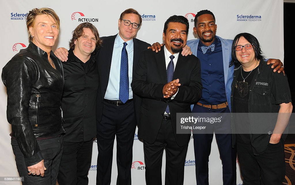 Bob Saget with Goo Goo Dolls Bill Bellamy and George LopezÊat the Scleroderma Research Foundation's Cool Comedy Hot Cuisine at the Fairmont Hotel on...