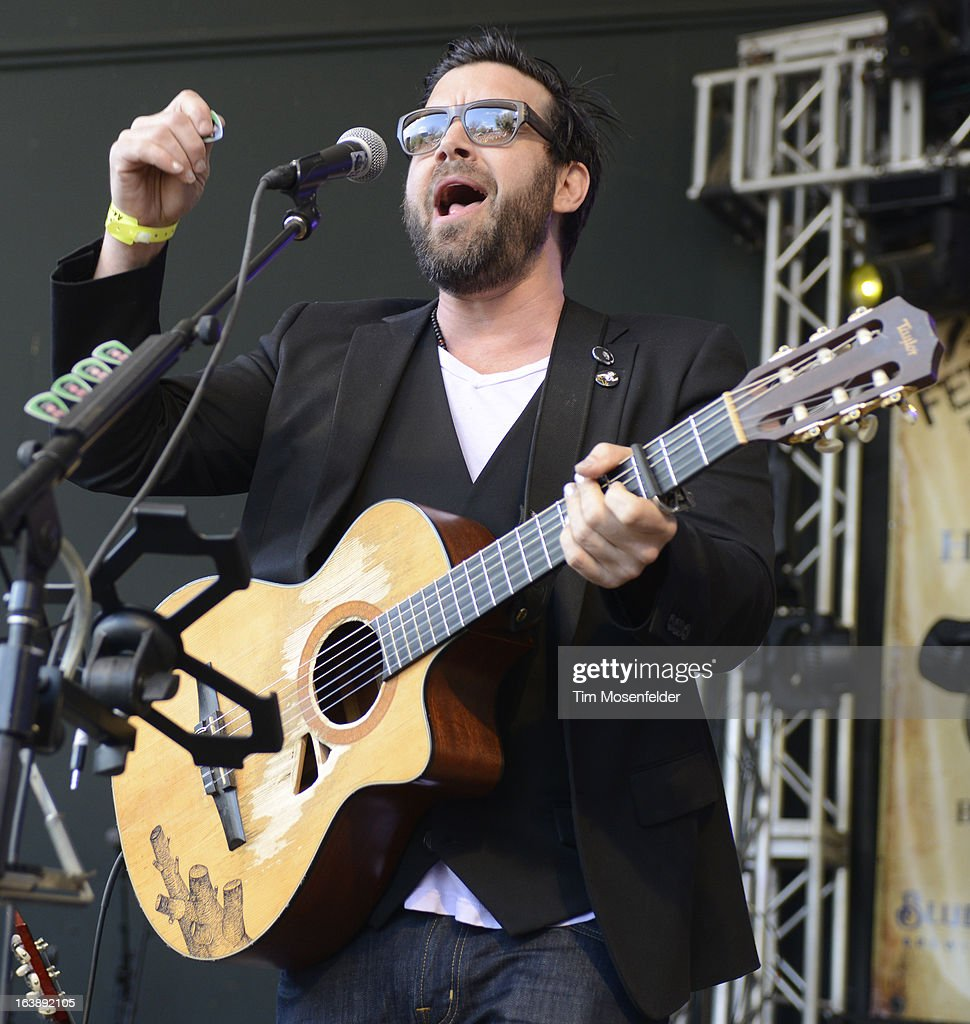 Bob Schneider performs at Rachael Ray's Feedback Party at Stubbs Bar-B-Que on March 16, 2013 in Austin, Texas.