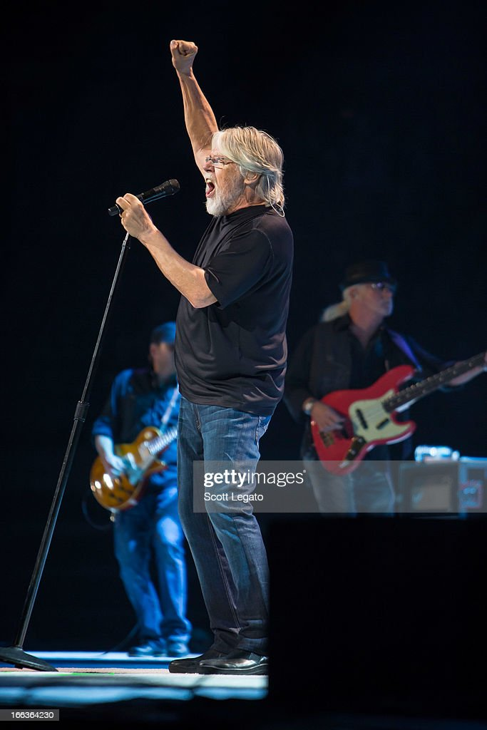 <a gi-track='captionPersonalityLinkClicked' href=/galleries/search?phrase=Bob+Seger&family=editorial&specificpeople=240274 ng-click='$event.stopPropagation()'>Bob Seger</a> of <a gi-track='captionPersonalityLinkClicked' href=/galleries/search?phrase=Bob+Seger&family=editorial&specificpeople=240274 ng-click='$event.stopPropagation()'>Bob Seger</a> and the Silver Bullet band performs in concert at The Palace of Auburn Hills on April 11, 2013 in Auburn Hills, Michigan.