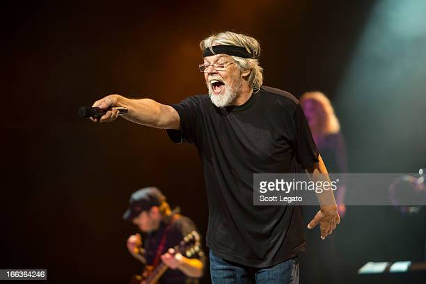 Bob Seger of Bob Seger and the Silver Bullet band performs in concert at The Palace of Auburn Hills on April 11 2013 in Auburn Hills Michigan