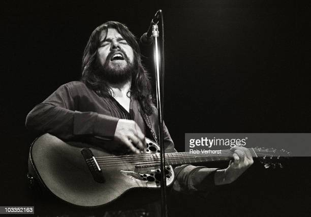 Bob Seger performs on stage at Ahoy on 3rd December 1980 in Rotterdam Netherlands He plays an Ovation acoustic guitar