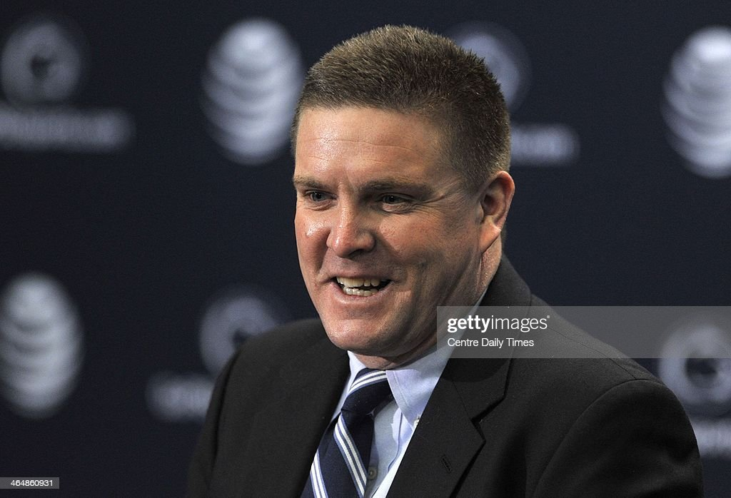 Bob Shoop speaks to the media after being introduced as Penn State's defensive coordinator and safeties coach, during news conference at Beaver Stadium, in University Park, Pa., Friday, Jan. 24, 2014.