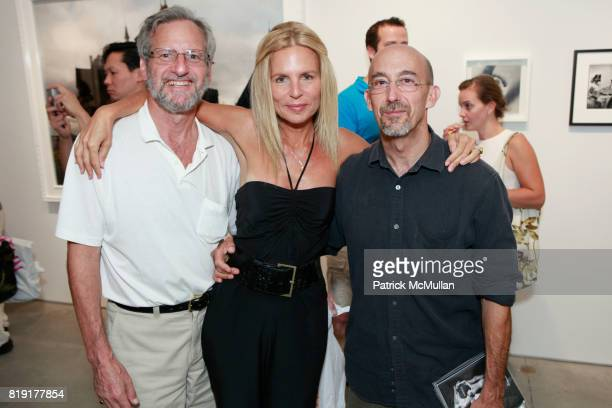Bob Simon Elizabeth Cohen and Len Prince attend INSPIRED Exhibition Curated By Beth Rudin DeWoody at Steven Kasher Gallery on July 14 2010 in New...