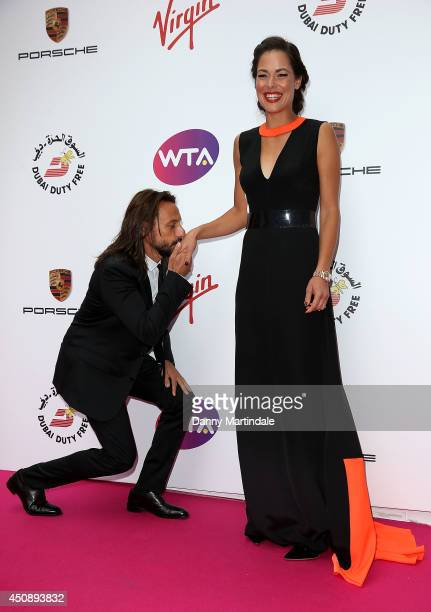 Bob Sinclair and Ana Ivanovic attends the WTA PreWimbledon party at Kensington Roof Gardens on June 19 2014 in London England