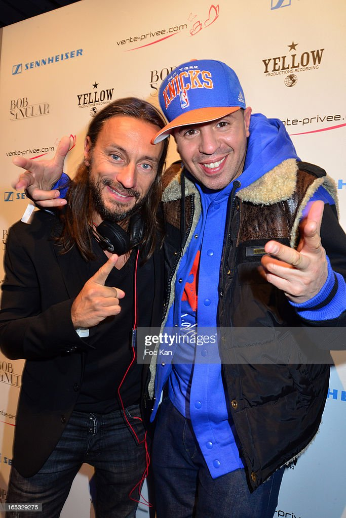 <a gi-track='captionPersonalityLinkClicked' href=/galleries/search?phrase=Bob+Sinclar&family=editorial&specificpeople=2076892 ng-click='$event.stopPropagation()'>Bob Sinclar</a> and DJ Cut Killer attend the 'Paris By Night' <a gi-track='captionPersonalityLinkClicked' href=/galleries/search?phrase=Bob+Sinclar&family=editorial&specificpeople=2076892 ng-click='$event.stopPropagation()'>Bob Sinclar</a> CD Launch Concert Party At La Gaite Lyrique on April 2, 2013 in Paris, France.