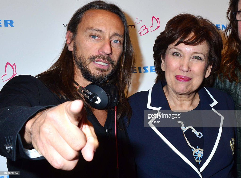 <a gi-track='captionPersonalityLinkClicked' href=/galleries/search?phrase=Bob+Sinclar&family=editorial&specificpeople=2076892 ng-click='$event.stopPropagation()'>Bob Sinclar</a> and <a gi-track='captionPersonalityLinkClicked' href=/galleries/search?phrase=Roselyne+Bachelot&family=editorial&specificpeople=2369544 ng-click='$event.stopPropagation()'>Roselyne Bachelot</a> attend the 'Paris By Night' <a gi-track='captionPersonalityLinkClicked' href=/galleries/search?phrase=Bob+Sinclar&family=editorial&specificpeople=2076892 ng-click='$event.stopPropagation()'>Bob Sinclar</a> CD Launch Concert Party At La Gaite Lyrique on April 2, 2013 in Paris, France.
