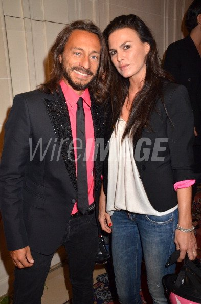 Bob Sinclar and wife Ingrid Sinclar attend the DSquared2
