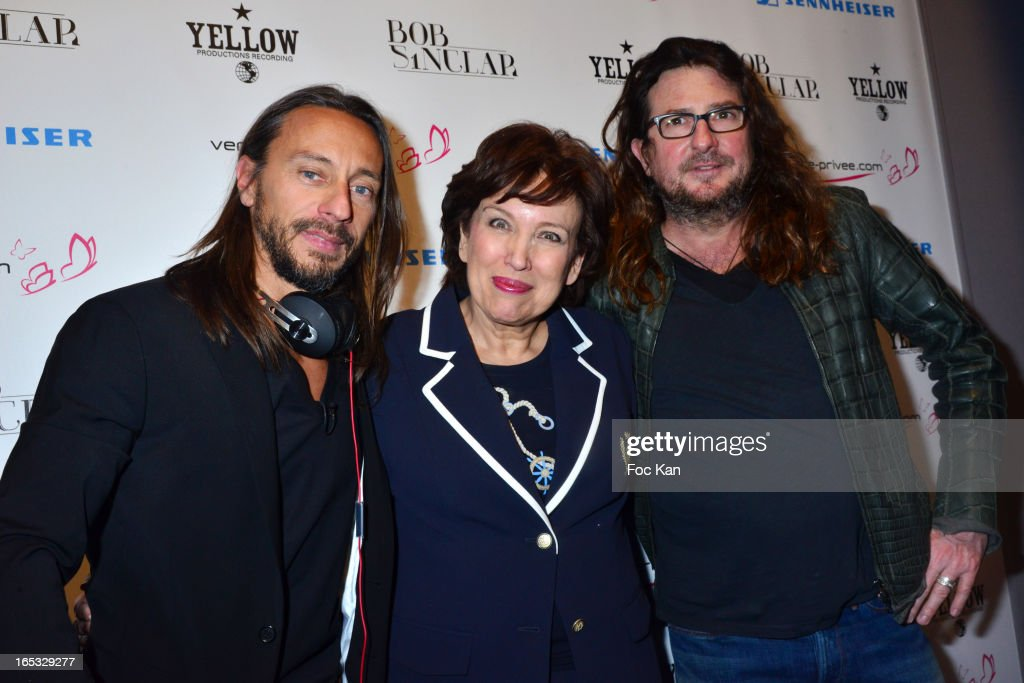 <a gi-track='captionPersonalityLinkClicked' href=/galleries/search?phrase=Bob+Sinclar&family=editorial&specificpeople=2076892 ng-click='$event.stopPropagation()'>Bob Sinclar</a>, <a gi-track='captionPersonalityLinkClicked' href=/galleries/search?phrase=Roselyne+Bachelot&family=editorial&specificpeople=2369544 ng-click='$event.stopPropagation()'>Roselyne Bachelot</a> and Jacques Antoine Granjon from 'Vente Privee' attend the 'Paris By Night' <a gi-track='captionPersonalityLinkClicked' href=/galleries/search?phrase=Bob+Sinclar&family=editorial&specificpeople=2076892 ng-click='$event.stopPropagation()'>Bob Sinclar</a> CD Launch Concert Party At La Gaite Lyrique on April 2, 2013 in Paris, France.