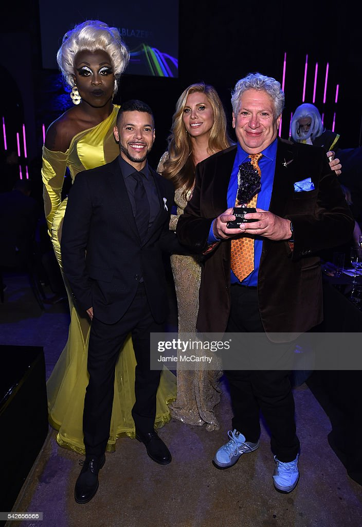 Bob the Drag Queen, Wilson Cruz, Candis Cayne and Honoree Harvey Fierstein attends 2016 Logo's Trailblazer Honors at Cathedral of St. John the Divine on June 23, 2016 in New York City.