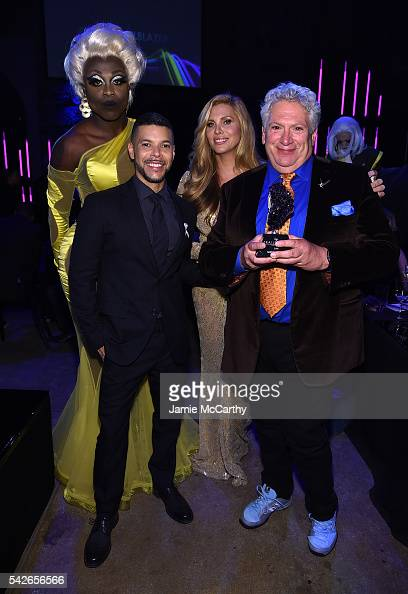 Bob the Drag Queen Wilson Cruz Candis Cayne and Honoree Harvey Fierstein attends 2016 Logo's Trailblazer Honors at Cathedral of St John the Divine on...