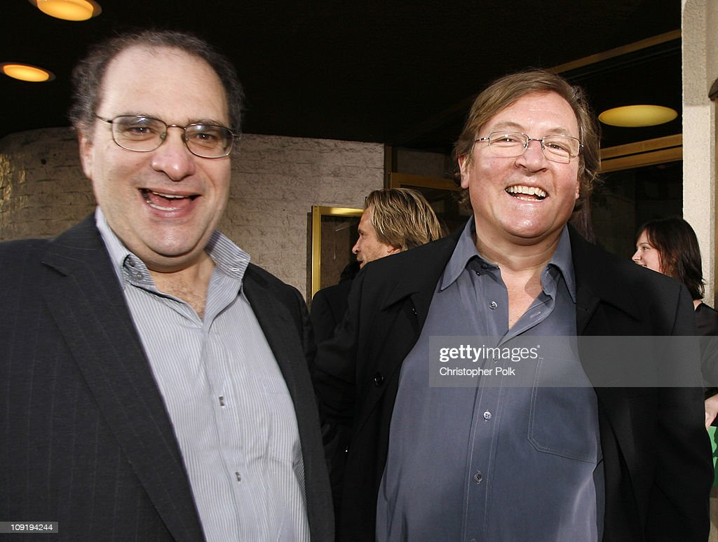 Bob Weinstein and Lorenzo di Bonaventura during '1408' Los Angeles Premiere Red Carpet at National Theatre in Westwood California United States