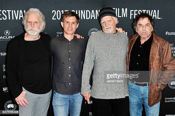 Bob Weir John Nein Bill Kreutzmann and Mickey Hart arrive at the 'Long Strange Trip' Premiere at Yarrow Hotel Theater on January 23 2017 in Park City...