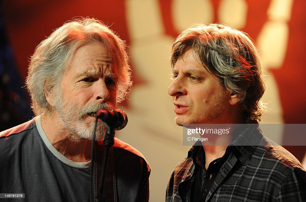 Bob Weir of The Grateful Dead and Mike Gordon of Phish perform during the 'Move Me Brightly' 70th Birthday Tribute for Jerry Garcia at TRI Studios on August 3, 2012 in San Rafael, California.