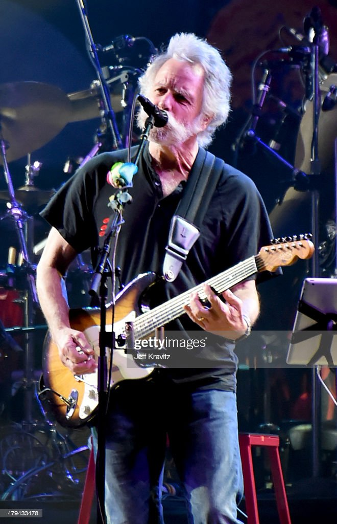 Bob Weir of The Grateful Dead perform during the 'Fare Thee Well, A Tribute To The Grateful Dead' on July 3, 2015 in Chicago, Illinois.