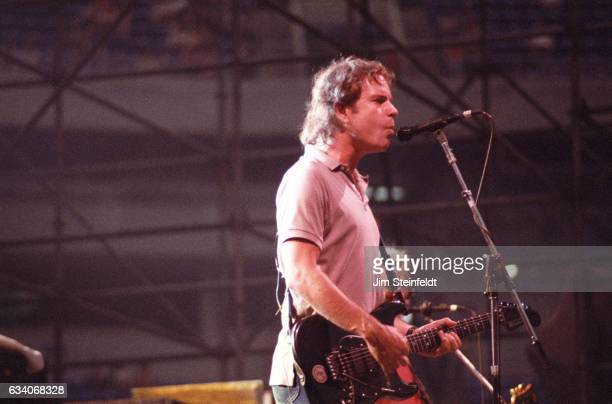 Bob Weir of the Grateful Dead performs at the Hubert H Humphrey Metrodome in Minneapolis Minnesota on June 26 1986