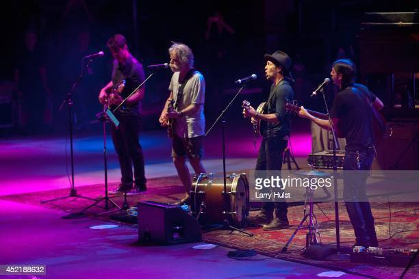 Bob Weir performing with 'The Avett Brothers' at Red Rocks Amplitheater in Morrison Colorado on July 11 2014