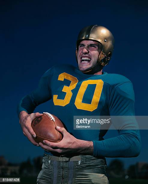 1950 Bob Wilkinson UCLA football player UPI color slide