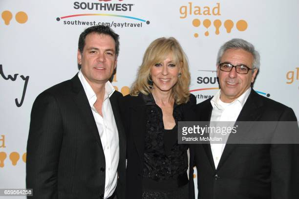 Bob Williams Judith Light and Mitchell Gold attend GLAAD Media Awards in Advertising cocktail party at The New World Stages 340 West 50th St on...