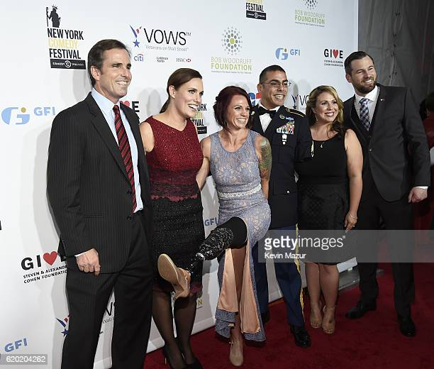 Bob Woodruff Sarah Rudder Michael Kacer and guests as The New York Comedy Festival and The Bob Woodruff Foundation present the 10th Annual Stand Up...