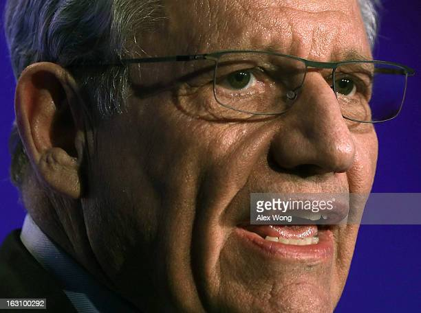 Bob Woodward associate editor at The Washington Post speaks during the annual conference of the National Association of Counties March 4 2013 at the...