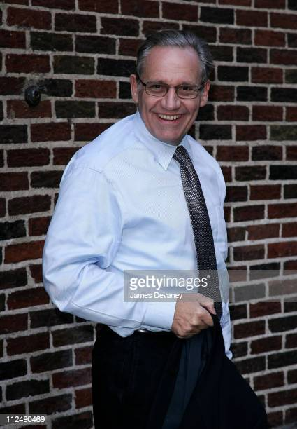 Bob Woodward during Nicky Hilton and Bob Woodward Visit The 'Late Show With David Letterman' October 10 2006 at Ed Sullivan Theatre in New York City...