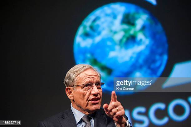 Bob Woodward speaks during the 'All The Presidents Men Revisited' screening at The Newseum on April 18 2013 in Washington DC
