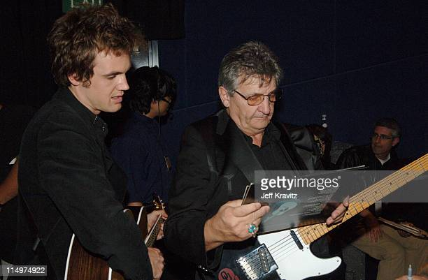 Bob Wootton of the Tennessee Three and Tyler Hilton celebrate the DVD release of 'Walk the Line' at a special Arclight screening featuring live...