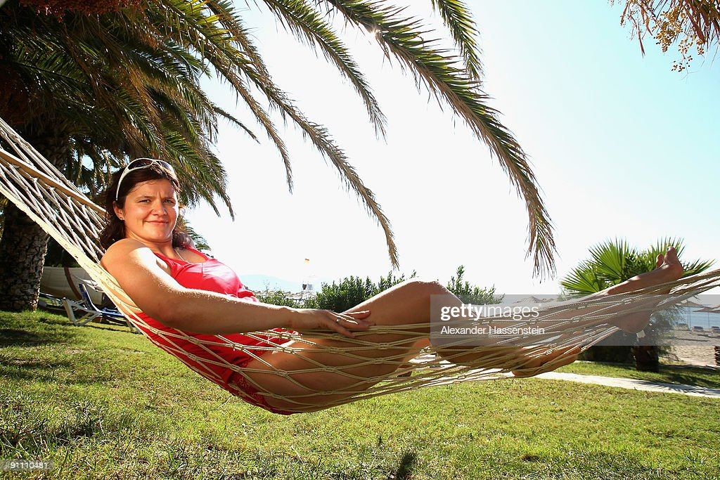 Bob World and Olympic Champion Sandra Kiriasis relaxes during the 'Champion des Jahres' event week at the Robinson Club Sarigerme Park on September...